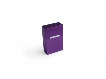 Elegantný hliníkový obal na cigarety - fialový matný