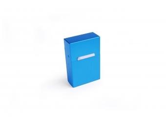 Elegantný hliníkový obal na cigarety - modrý matný