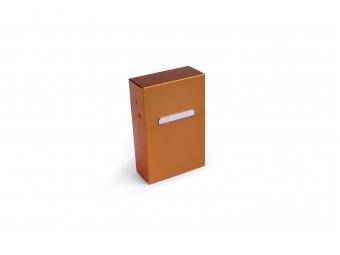 Elegantný hliníkový obal na cigarety - zlatý matný