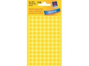 Avery Etikety kruhové žlté 8mm (bal=4hár)