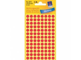 Avery Etikety kruhové červené 8mm (bal=4hár)
