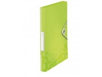Leitz Box na dokumenty WOW plastový s gumič.metalická zelená