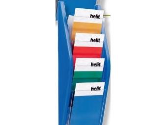 HELIT Prezentačný stojan 4xA4 modrý