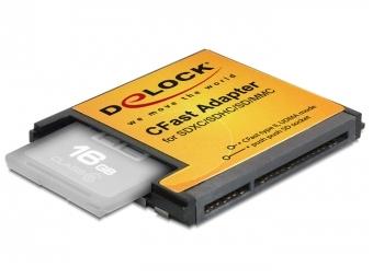 Delock CFast adaptér pre SDXC / SDHC / SD pamäťové karty