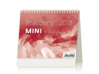Kalendár 2018 PRACOVNÝ MINI stolový,týždenný,stĺpcový 171x139mm