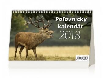 Kalendár 2018 POĽOVNÍCKY stolový,týždenný,riadkový 226x139mm