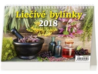 Kalendár 2018 LIEČIVÉ BYLINY stolový,dvojtýždenný,riadkkový 226x139mm