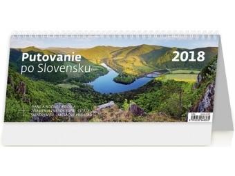 Kalendár 2018 PUTOVANIE po SLOVENSKU stolový,týždenný,stĺpc. 321x134mm