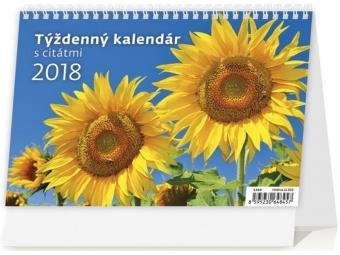 Kalendár 2018 s CITÁTMI stolový,týždenný,riadkový 211x148mm
