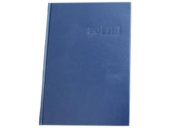 Diár Sekretár 2018 denný 14x20,4cm modrý