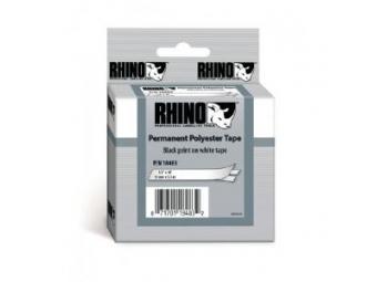 Dymo D1 Per. polyester. páska 12mm biela/čierna
