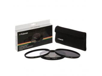 Polaroid filter 77mm (UV MC, CPL, ND9) set