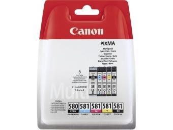Canon PGI-580/CLI-581 Atramentová náplň Multipack PgBk/C/M/Y/Bk
