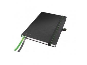 Leitz zápisník Complete A5 s gumičkou,linajkový čierny