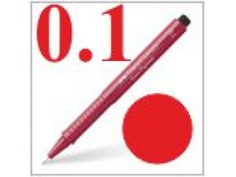 Faber-Castell pero technické Ecco pigment 0,1mm červené