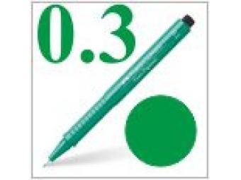 Faber-Castell pero technické Ecco pigment 0,3mm zelené