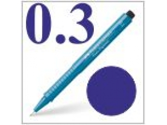 Faber-Castell pero technické Ecco pigment 0,3mm modré