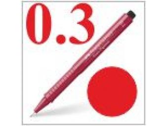 Faber-Castell pero technické Ecco pigment 0,3mm červené