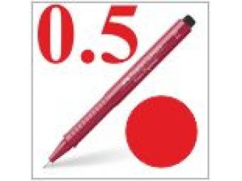 Faber-Castell pero technické Ecco pigment 0,5mm červené