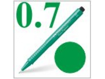 Faber-Castell pero technické Ecco pigment 0,7mm zelené