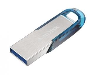 SanDisk Ultra Flair USB 3.0 32 GB, tropická modrá