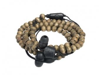 Wraps Natural Slúchadlá s mikrofónom/náramok drevené korálky,orech