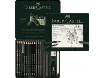 Faber-Castell Pitt Grafit set umelec.ceruziek a kried,stredný, plech