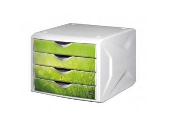 Helit Zásuvkový box Chameleón,biela/zelená