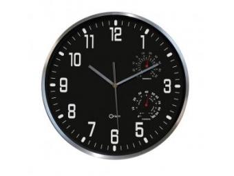 Nástenné hodiny Quartz S11400 30cm,čierne