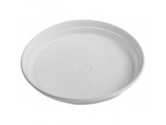 Taniere plastové plytké biele 22cm (bal=100ks)