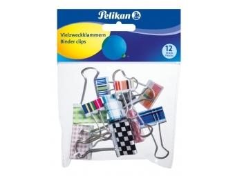 Pelikan Klipy na dokumenty farebné,mix velkostí a dizajnov (bal=12ks)