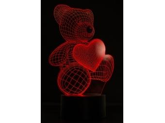 3D LED lampa - optická ilúzia