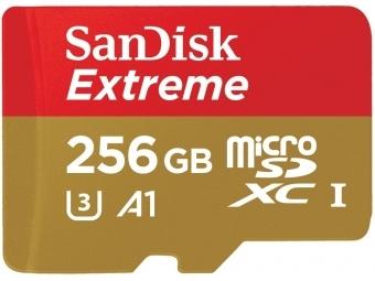 SanDisk microSDXC Extreme 256GB 100 MB/s A1 Class 10 UHS-I V30 + SD adaptér, pre akčné kamery