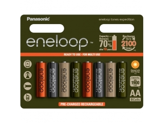 Panasonic Eneloop 8xAA NiMH 1900mAH akumulátor Expedition pack