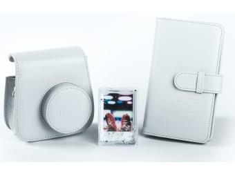 Fujifilm sada príslušenstva pre instax mini 8 / mini 9, biela (kožené púzdro, fotoalbum, akrylový rámik)