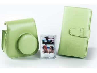 Fujifilm sada príslušenstva pre instax mini 8 / mini 9, zelená (kožené púzdro, fotoalbum, akrylový rámik)