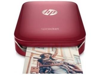HP Sprocket fotografická tlačiareň červená