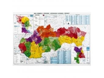 Mapa 120x90cm SR administratívna 1:400000