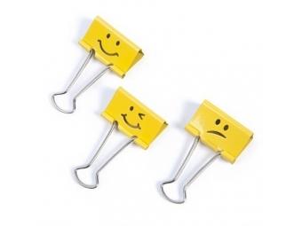 Rapesco Klipy na dokumenty Emoji 19mm žlté (bal=20ks)