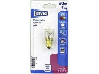 Xavax 112440 žiarovka žiaruvzdorná do 300°C, E14, 15 W, hruškovitá, číra
