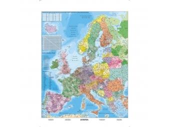 Mapa Európa PSČ 100x140cm, 1:3,6mil.