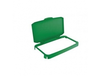Durable Veko s rámom na plastový kôš DURABIN 60,zelené