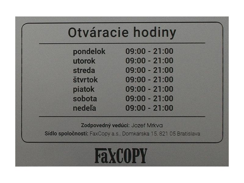 2e554967a Tabuľka gravírovaná 13 x 9 cm | Grafické produkty | Menovky a ...