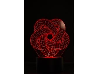 Motív k 3D LED lampe - optická ilúzia