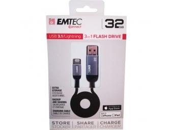 Emtec T750A 32GB Dual USB3.1 Lightning