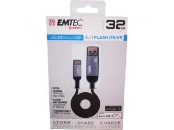 Emtec T750B 32GB Dual USB3.1 micro-USB