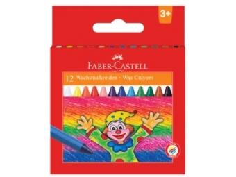 Faber-Castell voskovky guľaté farebné, sada 12ks