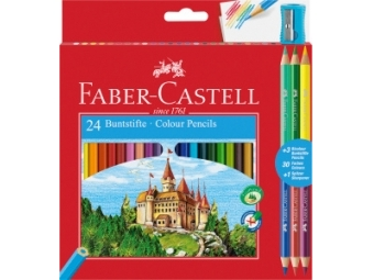 Faber-Castell Pastelky 3 bi-color, sada 24ks