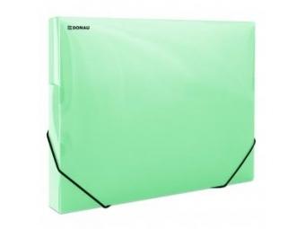 Donau Box na dokumenty plastový s gumič.priehľadný zelený