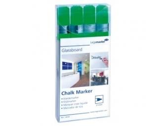 Legamaster Glassboard Popisovač na sklenené tabule,zelený (bal=4ks)
